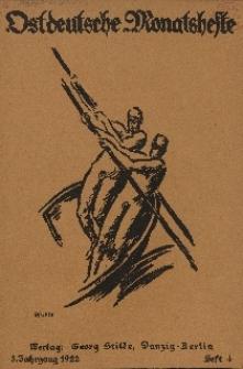 Ostdeutsche Monatshefte Nr. 4, Juli 1922, 3 Jahrgang