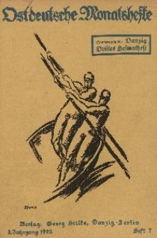 Ostdeutsche Monatshefte Nr. 7, Oktober 1922, 3 Jahrgang