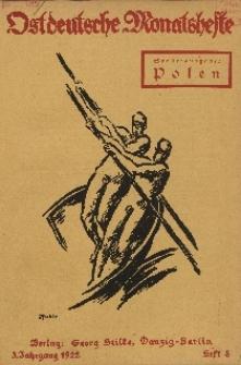 Ostdeutsche Monatshefte Nr. 8, November 1922, 3 Jahrgang