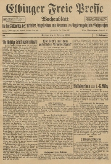 Freie Presse, Nr. 7 Freitag 19. Februar 1926 2. Jahrgang