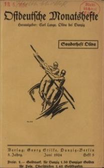 Ostdeutsche Monatshefte Nr. 3, Juni 1924, 5 Jahrgang