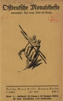 Ostdeutsche Monatshefte Nr. 4, Juli 1924, 5 Jahrgang