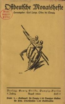 Ostdeutsche Monatshefte Nr. 5, August 1924, 5 Jahrgang