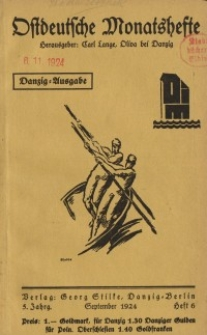 Ostdeutsche Monatshefte Nr. 6, September 1924, 5 Jahrgang