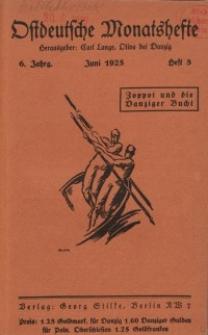 Ostdeutsche Monatshefte Nr. 3, Juni 1925, 6 Jahrgang