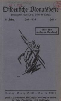 Ostdeutsche Monatshefte Nr. 4, Juli 1925, 6 Jahrgang