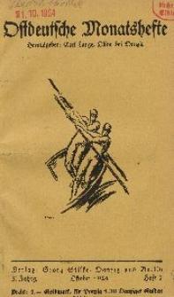 Ostdeutsche Monatshefte Nr. 7, Oktober 1924, 5 Jahrgang