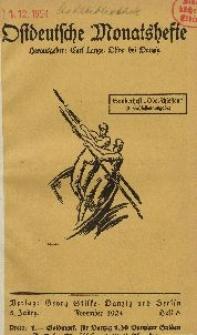 Ostdeutsche Monatshefte Nr. 8, November 1924, 5 Jahrgang