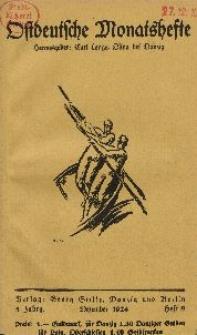 Ostdeutsche Monatshefte Nr. 9, Dezember 1924, 5 Jahrgang