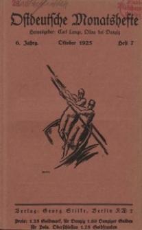 Ostdeutsche Monatshefte Nr. 7, Oktober 1925, 6 Jahrgang