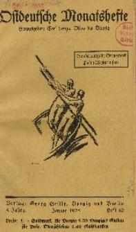 Ostdeutsche Monatshefte Nr. 10, Januar 1925, 5 Jahrgang