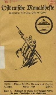 Ostdeutsche Monatshefte Nr. 11, Februar 1925, 5 Jahrgang