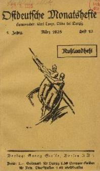 Ostdeutsche Monatshefte Nr. 12, März 1925, 5 Jahrgang