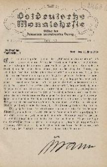 Ostdeutsche Monatshefte Nr. 1, April 1930, 11 Jahrgang