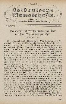 Ostdeutsche Monatshefte Nr. 3, Juni 1930, 11 Jahrgang