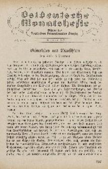Ostdeutsche Monatshefte Nr. 6, September 1930, 11 Jahrgang