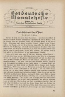 Ostdeutsche Monatshefte Nr. 2, Mai 1931, 12 Jahrgang