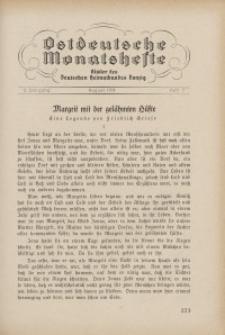 Ostdeutsche Monatshefte Nr. 5, August 1931, 12 Jahrgang