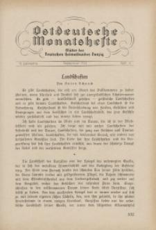 Ostdeutsche Monatshefte Nr. 6, September 1931, 12 Jahrgang