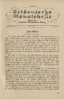 Ostdeutsche Monatshefte Nr. 2, Mai 1934, 15 Jahrgang