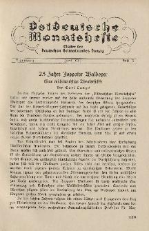 Ostdeutsche Monatshefte Nr. 3, Juni 1934, 15 Jahrgang