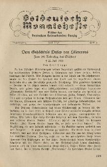 Ostdeutsche Monatshefte Nr. 4, Juli 1934, 15 Jahrgang