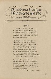Ostdeutsche Monatshefte Nr. 5, August 1934, 15 Jahrgang