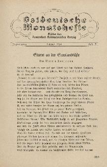 Ostdeutsche Monatshefte Nr. 7, Oktober 1934, 15 Jahrgang