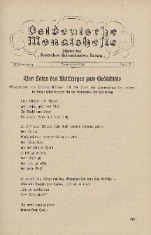 Ostdeutsche Monatshefte Nr. 8, November 1934, 15 Jahrgang