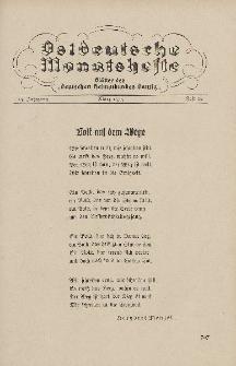 Ostdeutsche Monatshefte Nr. 12, März 1935, 15 Jahrgang