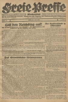 Freie Presse, Nr. 26 Freitag 2. Juli 1926 2. Jahrgang