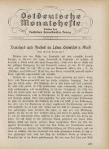 Ostdeutsche Monatshefte Nr. 8, November 1930, 11 Jahrgang