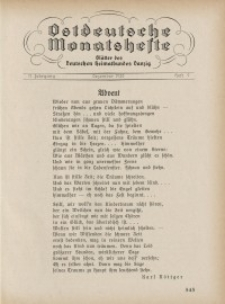 Ostdeutsche Monatshefte Nr. 9, Dezember 1930, 11 Jahrgang