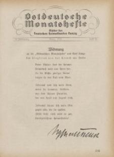 Ostdeutsche Monatshefte Nr. 12, März 1931, 11 Jahrgang