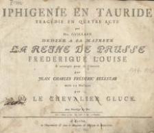 Iphigenie en Tauride : Tragedie en Quatre Acte…