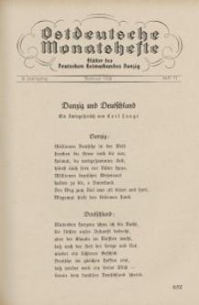 Ostdeutsche Monatshefte Nr. 11, Februar 1932, 12 Jahrgang