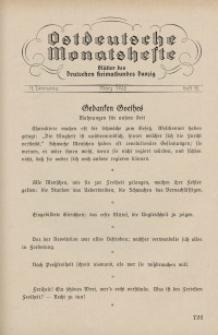 Ostdeutsche Monatshefte Nr. 12, März 1932, 12 Jahrgang