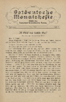 Ostdeutsche Monatshefte Nr. 1, April 1932, 13 Jahrgang