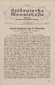 Ostdeutsche Monatshefte Nr. 8, November 1932, 13 Jahrgang