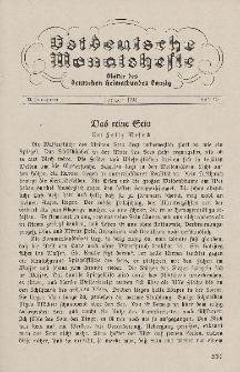 Ostdeutsche Monatshefte Nr. 10, Januar 1933, 13 Jahrgang