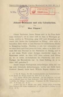 Johann Bochmann und sein Calendarium