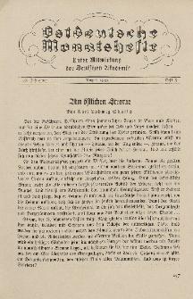 Ostdeutsche Monatshefte Nr. 5, August 1935, 16 Jahrgang