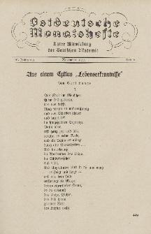 Ostdeutsche Monatshefte Nr. 8, November 1935, 16 Jahrgang