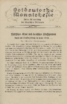 Ostdeutsche Monatshefte Nr. 10, Januar 1936, 16 Jahrgang