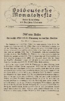 Ostdeutsche Monatshefte Nr. 11, Februar 1936, 16 Jahrgang