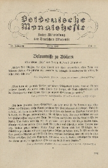 Ostdeutsche Monatshefte Nr. 12, März 1936, 16 Jahrgang