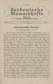Ostdeutsche Monatshefte Nr. 1, April 1931, 12 Jahrgang