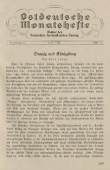 Ostdeutsche Monatshefte Nr. 3, Juni 1933, 14 Jahrgang