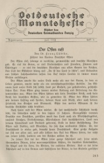 Ostdeutsche Monatshefte Nr. 4, Juli 1933, 14 Jahrgang