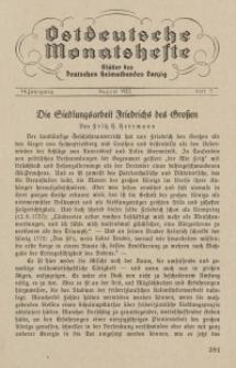 Ostdeutsche Monatshefte Nr. 5, August 1933, 14 Jahrgang